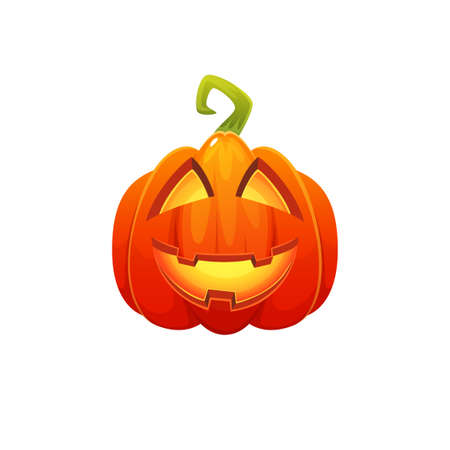 Cartoon Halloween Pumpkin character disign. Icon isolated on white background.