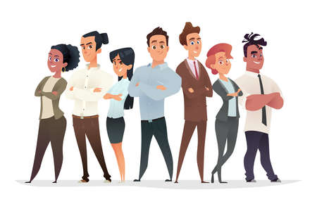 Young professionals characters collection. Business team concept. Recruitment of successful young managers Illustration