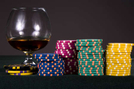 predilection: Playing counters for a casino Stock Photo