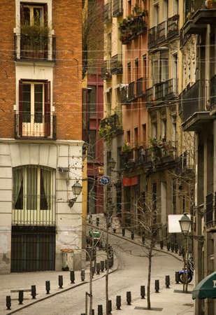 The Madrid street, old city, Spain, Europa Stock Photo