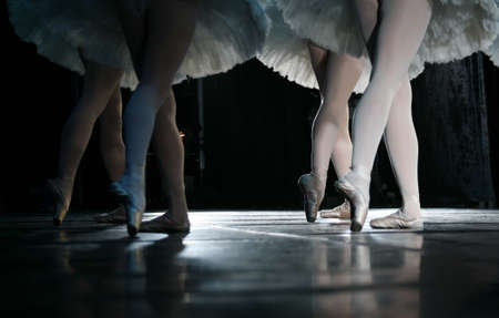 The ballerina during dance execution, body performance choreography Stock Photo - 9115083