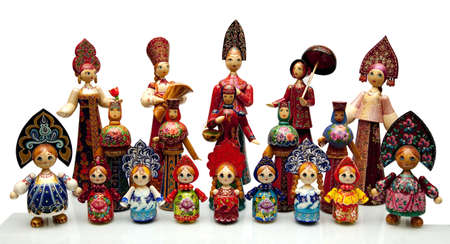 nested: Nested doll - the Old national Russian doll of handwork