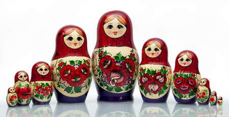 trabajo manual: Nested mu�eca - una vieja mu�eca rusa nacional del trabajo hecho a mano.