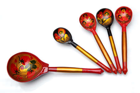 handiwork: Spoons - a handiwork painted with Khokhloma drawings.