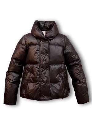 Jacket, down-padded coat the female short Stock Photo