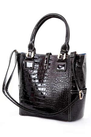 capacious: Woman handbag isolated on white background