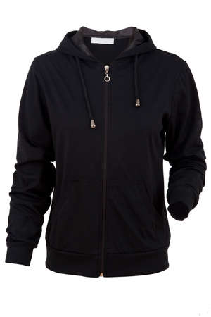 sports jacket with a hood isolated on a white