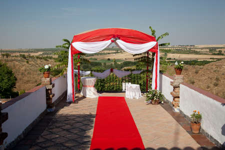 tent for carrying out wedding ceremonies in Spain photo
