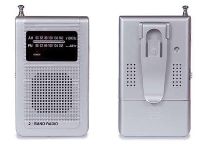 Portable radio set isolated on white background photo