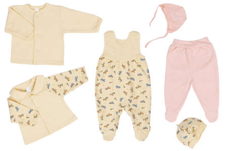 romper: Baby clothes, wear isolated on white background