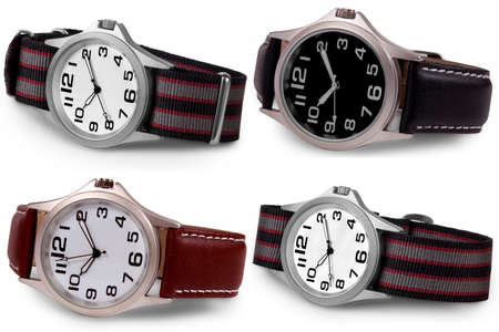 Wrist watches isolated on white background. Stock Photo