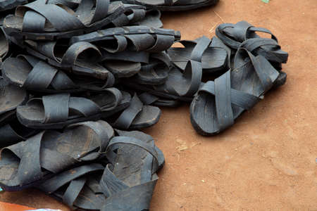 long lasting: The authentic Hamer sandals made from recycled automobile tires