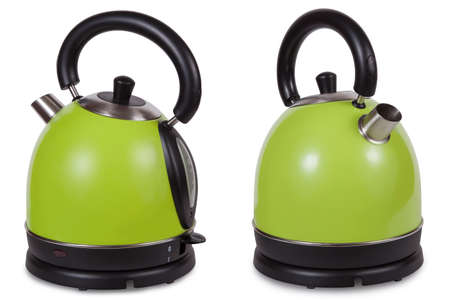stand teapot: Electric kettle was isolated on a white background Stock Photo
