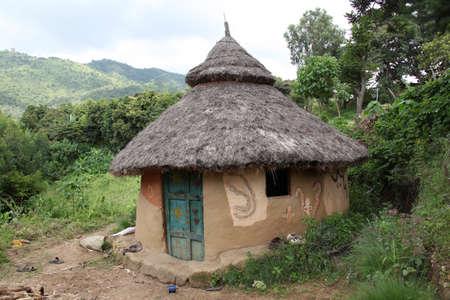 Traditional Ethiopian house. Jinka. Ethiopia.