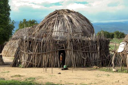 tribu: Casas de personas de una tribu Hamer