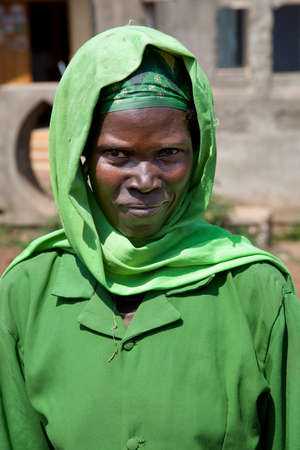 rift: SOUTH OMO - ETHIOPIA - NOVEMBER 19, 2011: Portrait of the unidentified old woman from Ethiopia in November 19, 2011 in Omo Rift Valley, Ethiopia.