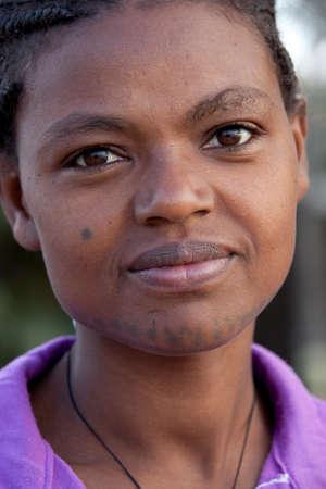 rift: SOUTH OMO - ETHIOPIA - NOVEMBER 27, 2011: Portrait of the unidentified from Ethiopia, in November 27, 2011 in Omo Rift Valley, Ethiopia.