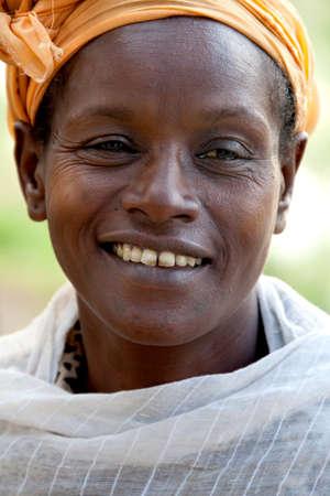 SOUTH OMO - ETHIOPIA - NOVEMBER 27, 2011: Portrait of the unidentified woman from Ethiopia, in November 27, 2011 in Omo Rift Valley, Ethiopia.