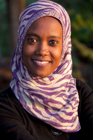 rift: SOUTH OMO - ETHIOPIA - NOVEMBER 27, 2011: Portrait of the unidentified woman from Ethiopia, in November 27, 2011 in Omo Rift Valley, Ethiopia.