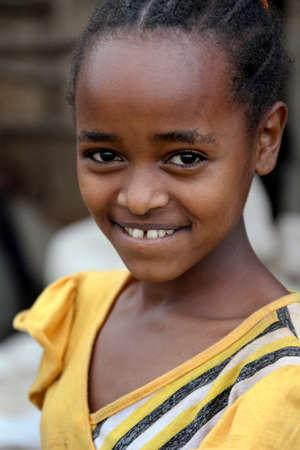 rift: SOUTH OMO - ETHIOPIA - NOVEMBER 26, 2011: Portrait of the unidentified girl from Ethiopia, in November 26, 2011 in Omo Rift Valley, Ethiopia.