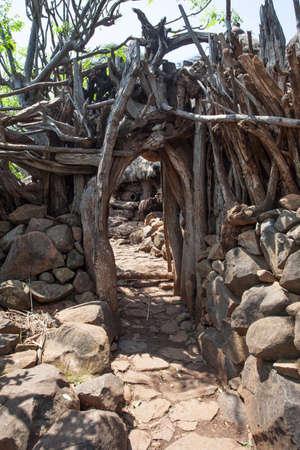 karat: Traditional Ethiopian village Karat Konso. Ethiopia.