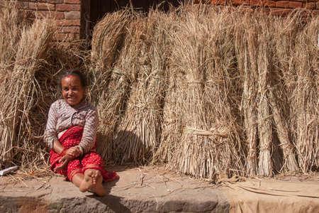 KATHMANDU, NEPAL, APRIL 25:  Unidentified women in the street of Kathmandu, Nepal.