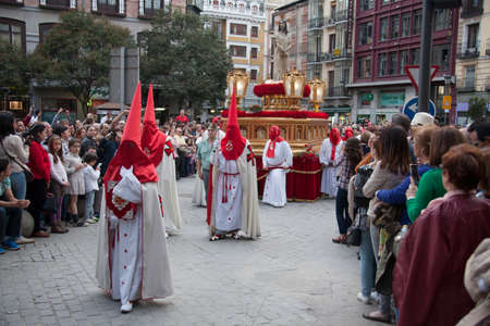 piety: MADRID, SPAIN - APRIL 03, 2015: Procession of Jesus of Nazareth The Poor through the streets of Madrid in the festivities of Easter Holy Week.