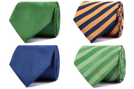 set of ties on a white background