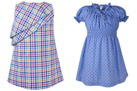 children's nice dress for summer isolated on white background