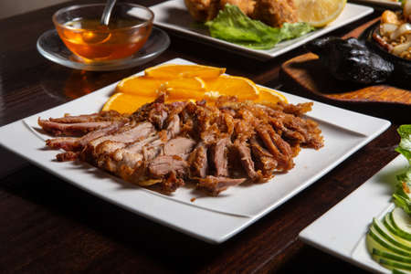 Hong Kong roasted goose Chinese delicacy cuisine iconic dish.