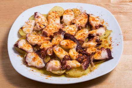 Image of Galician style octopus, pulpo a la gallega