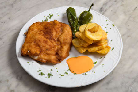 Cachopo typical meat dish from the Asturias region in Spain