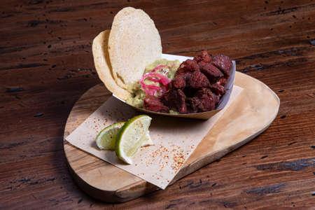 Freshly prepared Chicharron or Fried Pork Skins and served as a tapa. Zdjęcie Seryjne