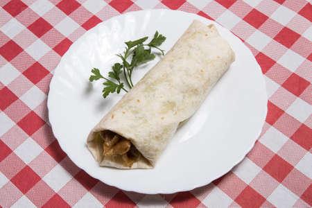 Turkish Adana Kebab Durum Stock image