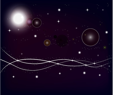moon and stars: Space background, stars planet dark background, lights.