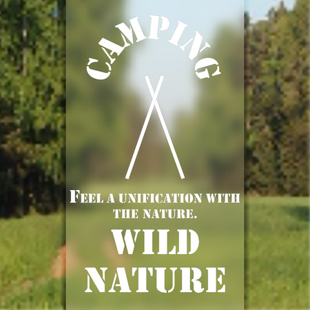 wild nature: Poster of a summer camp, background of the wild nature.