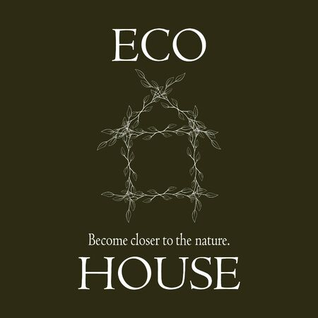 housing problems: Logo become closer to the nature the eco house.