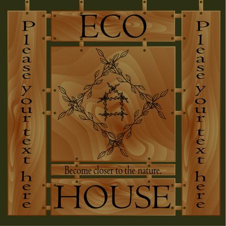 closer: Logo become closer to the nature the eco house.