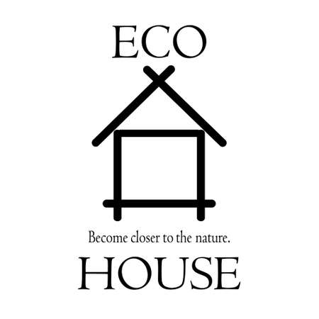 become: Logo become closer to the nature the eco house.