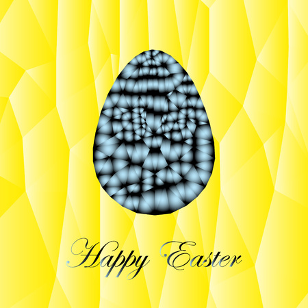 absurd: The abstract festive easter card, with the image of the abstract egg.