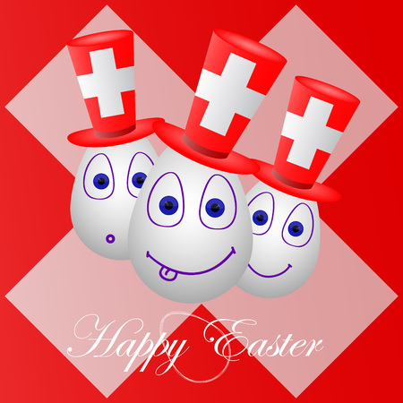 penalty card: The festive card happy Easter for the Switzerland.