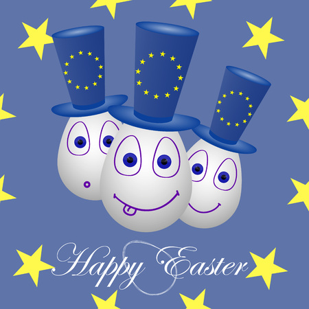 The festive card happy Easter for the European Union.