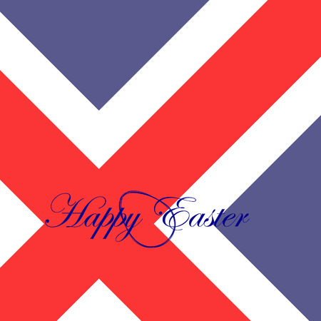 penalty flag: The festive card happy Easter for Iceland.