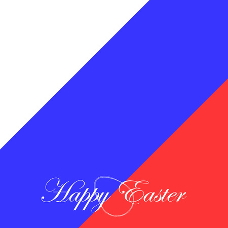 penalty flag: The festive card happy Easter for Russia.