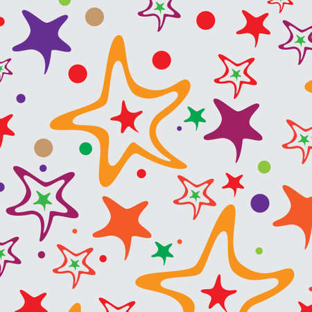 handwork: The beautiful seamless template consists of handwork stars Illustration