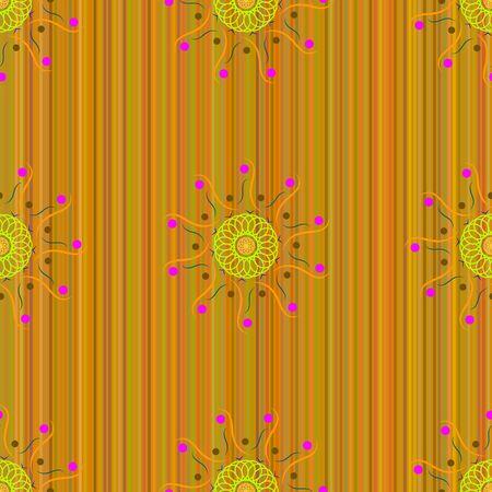 multi: Seamless pattern, the mandala consisting of multi colored elements. Illustration