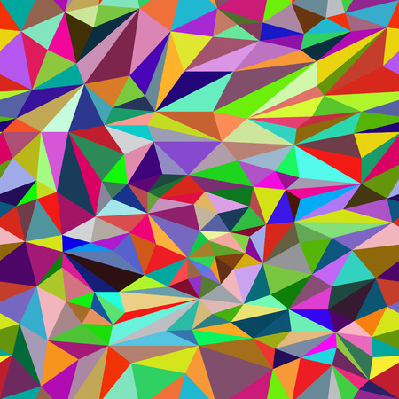 darkly: Seamless pattern consisting of multi colored triangles. Illustration