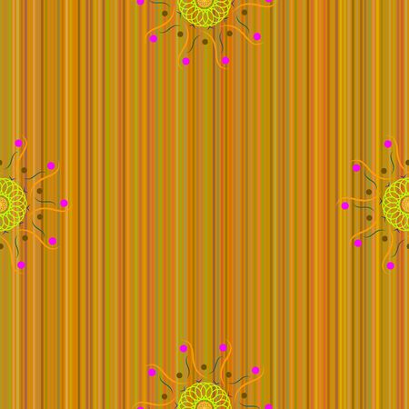 multi colored: Seamless pattern, the mandala consisting of multi colored elements. Illustration