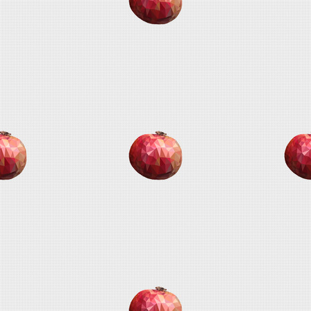 garnets: Seamless pattern a linking of garnets which fills template space.