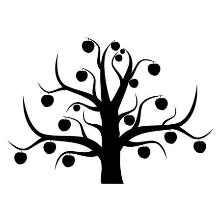 The unusual apple-tree